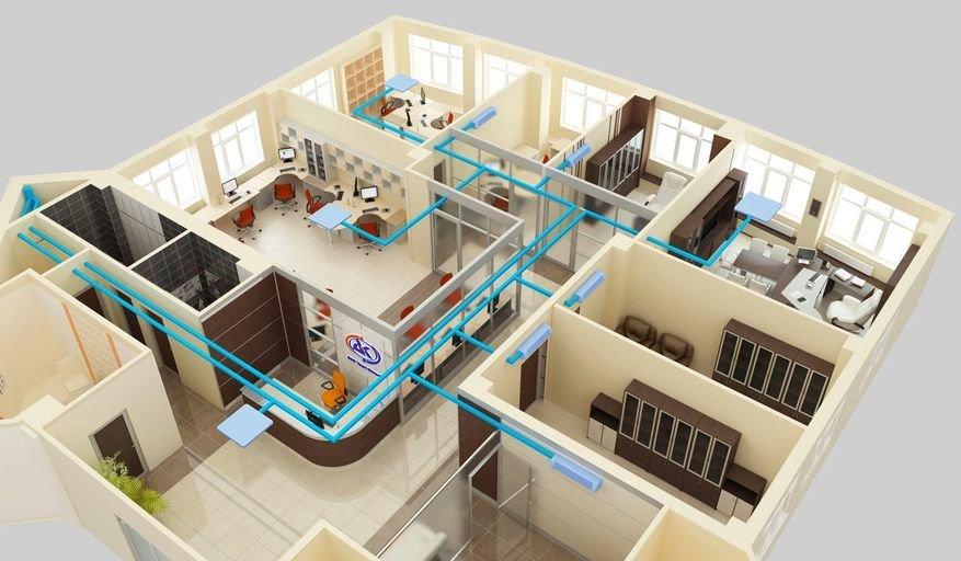 többzónás légkondicionáló rendszer telepítése