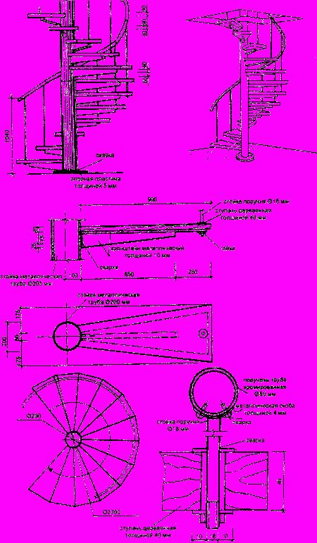 Schody na sérii kovových nosníků