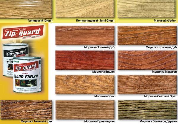 Existuje široká škála barev, které se liší barvou, typem a cenou