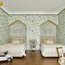 Детская комната для двоих детей: примеры ремонта, зонирование, фото в интерьере-3