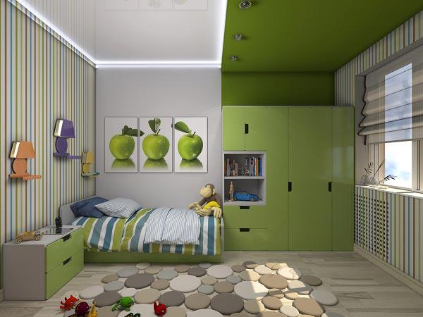 Az alvó- és munkaterületek szétválasztása szín használatával