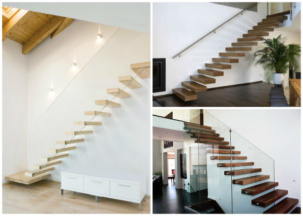 A lépcső elkészítése a házban