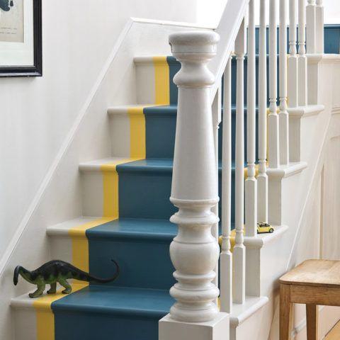 Malování dřevěných schodů
