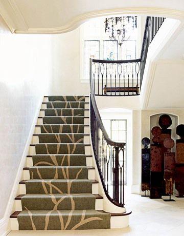 Dekoratív sétány a lépcsősor tervezésében