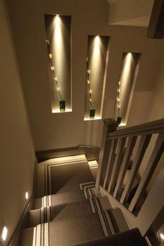 Dekoratív fülkék a lépcső kialakításában