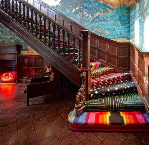 A klasszikus lépcső szokatlan kialakítása