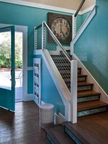 A lépcső fényes festése