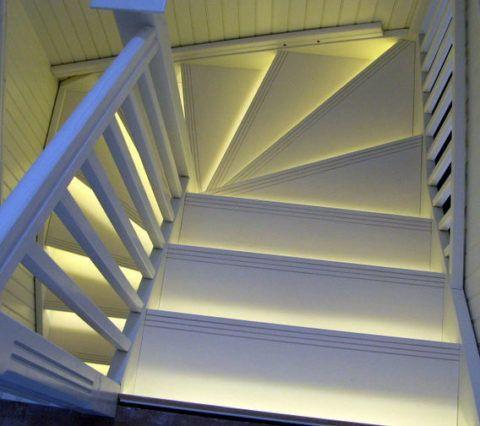 A lépcsők megvilágítása