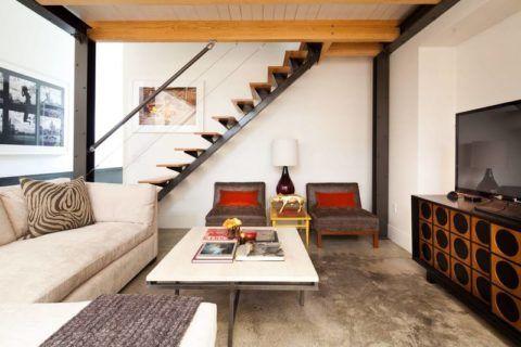 """Modern belső lépcsőház """"Loft"""" stílusban"""