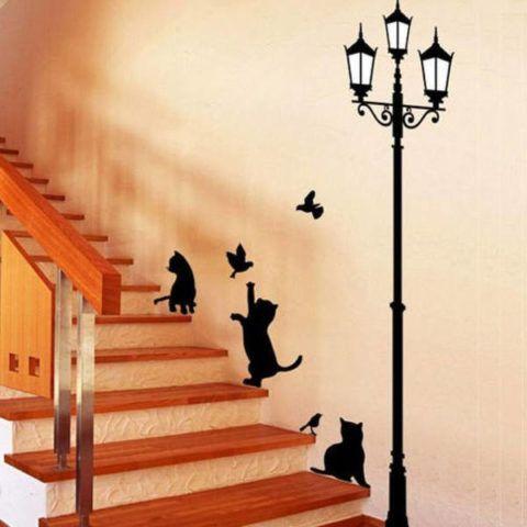 Vicces dekoratív matricák a lépcsőház díszítéséhez