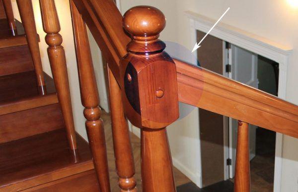 Dřevěné hmoždinky v barvě dřeva jsou zcela neviditelné