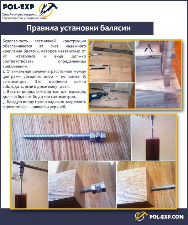 Pravidla instalace zábradlí