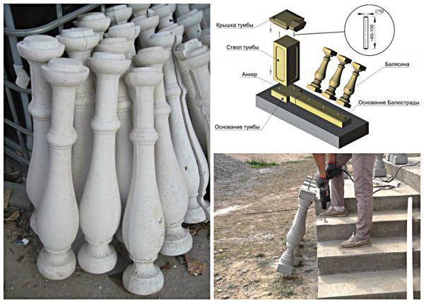 Montáž betonových sloupků