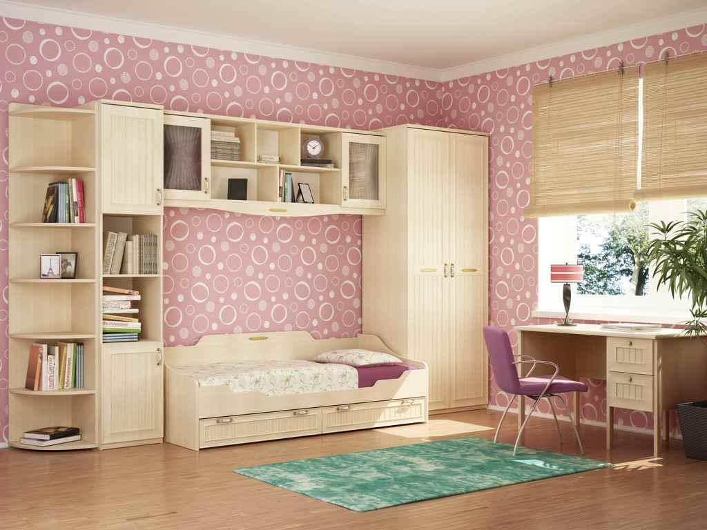 вариант необычного декора детской комнаты для девочки