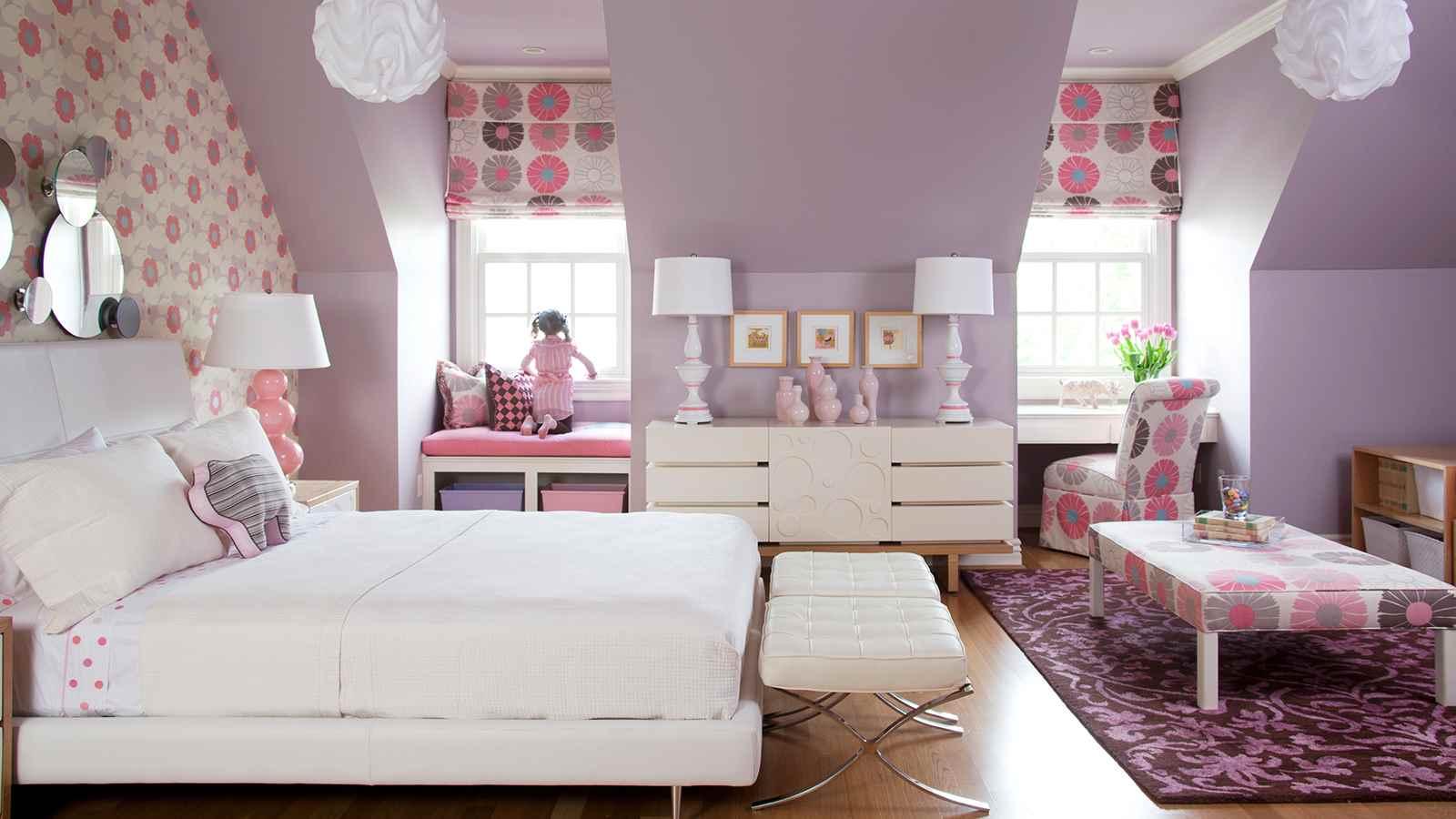 пример красивого декора детской комнаты для девочки
