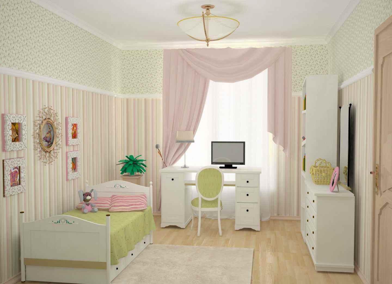 вариант яркого декора детской комнаты для девочки