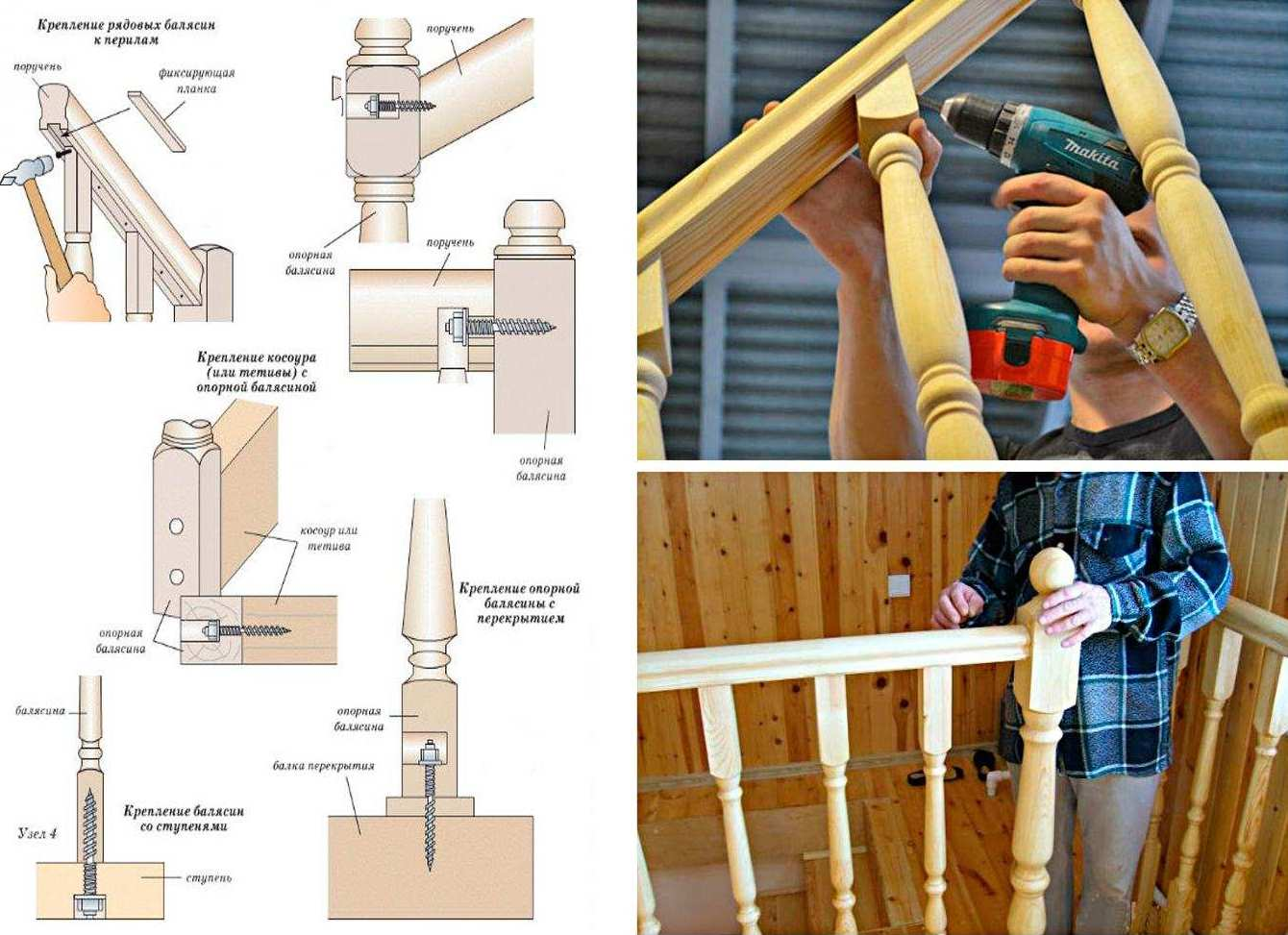 Uspořádání upevňovacích bodů pro dřevěné schody