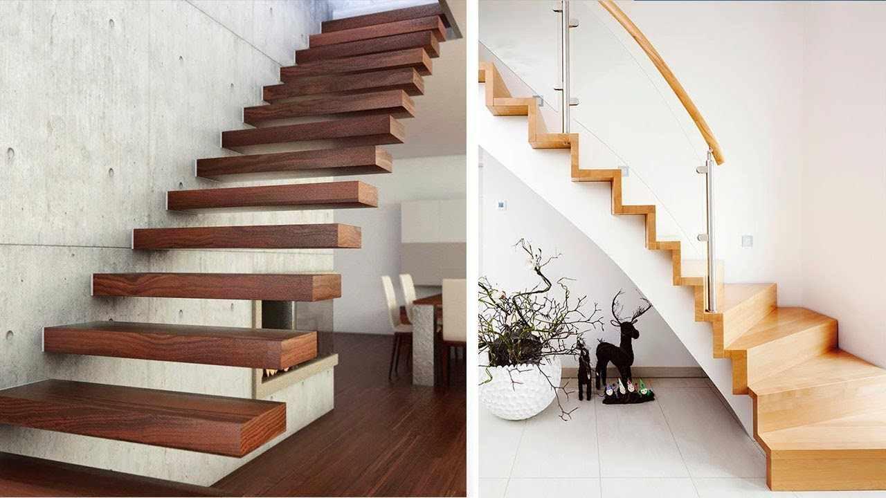 példa egy őszinte ház szokatlan belső lépcsőjére