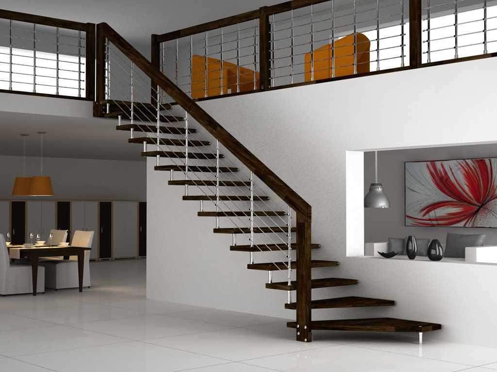 a lépcsők könnyű stílusának változata