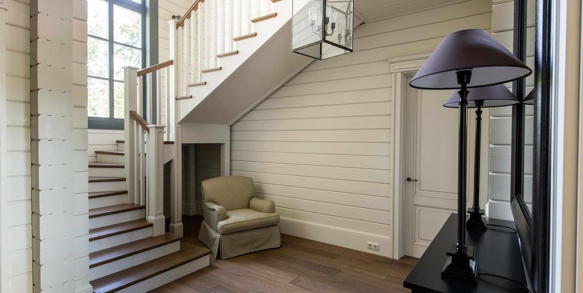 ötlet egy szokatlan kialakítású lépcsőn egy becsületes házban