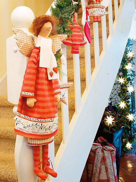 lépcsőház dekoráció az új évre