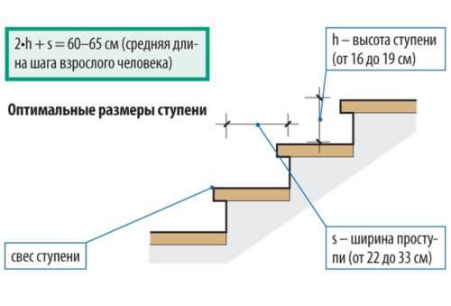 rozměry kroků