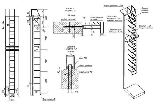 a függőleges lépcsők méretei