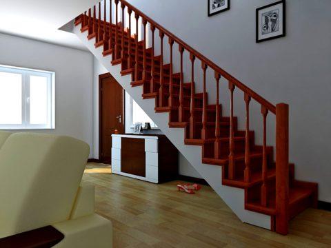 Obyčejné jednoleté schodiště je nejvíce rozpočtovým způsobem, jak zajistit meziposchodový průchod