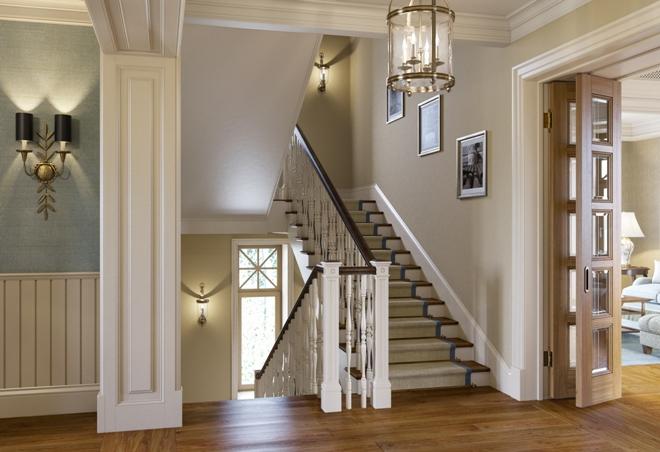 Fali dekoráció egy lépcsőn
