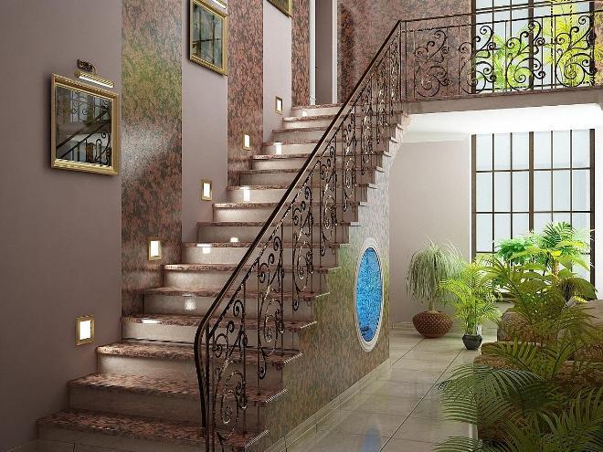 Lépcső dekoráció