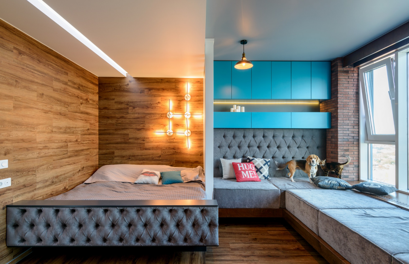 Интерьер комнаты для девушки когда есть гостевая зона, найти место для фотографирования проще