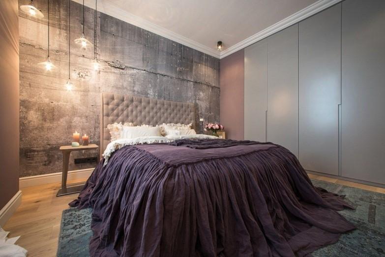 Комната для девушки в стиле лофт – вариант гламур