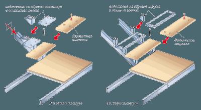 Dřevěné schody na ocelovém nosníku