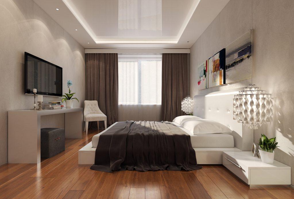 Потолок в спальне: наиболее подходящие варианты обустройства