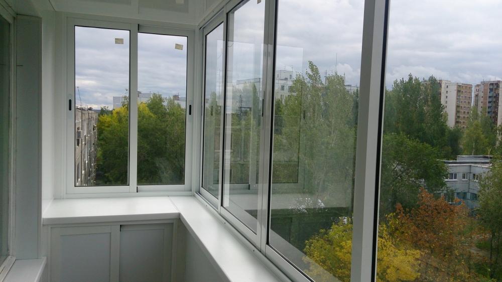 Услуга алюминиевого остекления балконов профилем Provedal