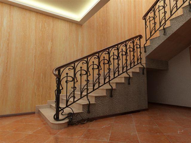 Какими могут быть перила для лестниц