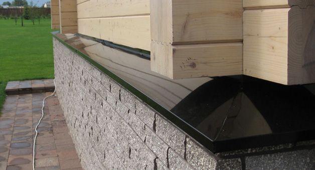Отливы для фундамента – отличная защита всего здания от влаги