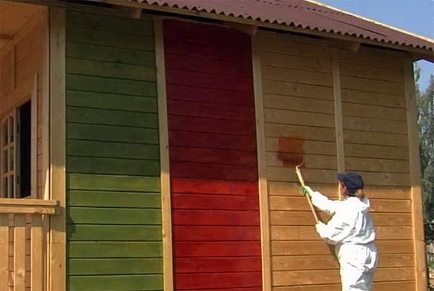 Краска для деревянного дома